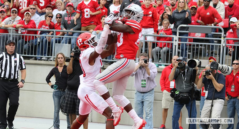 Terry McLaurin hauls in his first-career touchdown against Rutgers.