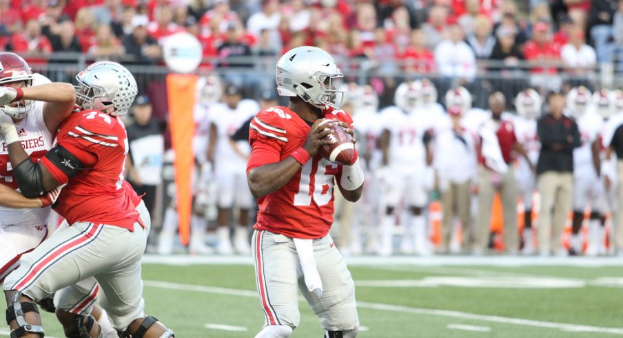Ohio State quarterback J.T. Barrett shouldered the blame for the passing game struggles.