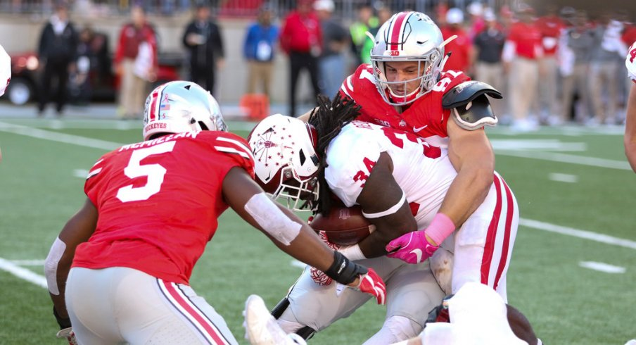 Nick Bosa said he is ready for more work after helping Ohio State stuff Indiana at a critical juncture on Saturday.