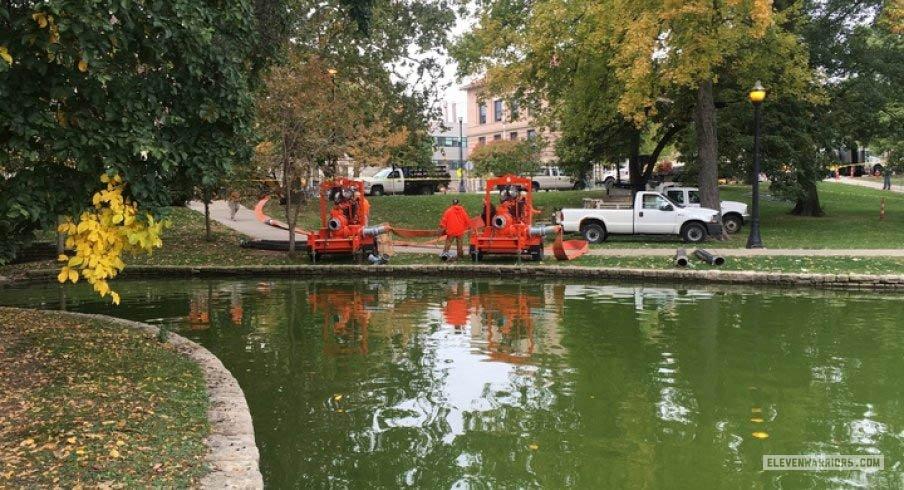 Crews begin draining Mirror Lake