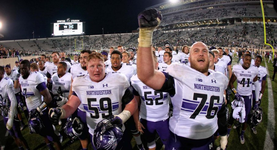 Northwestern's offense put up big numbers in East Lansing.