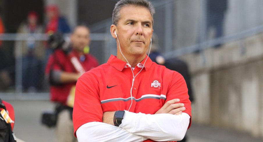 Urban Meyer said he isn't panicking yet with Ohio State's wide receivers' production.
