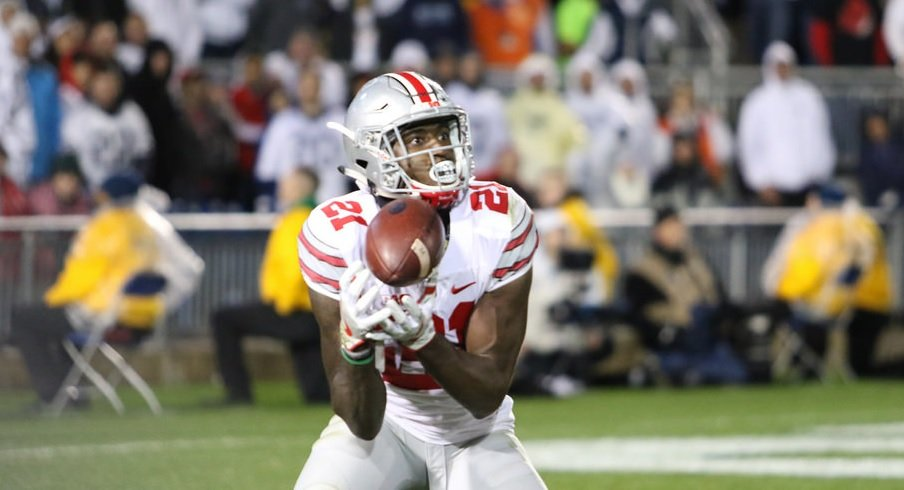 Parris Campbell did not have a great game for Ohio State against Penn State.