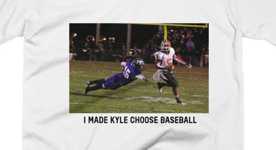 Braxton Miller's new shirt pokes fun at the Cubs' Kyle Schwarber