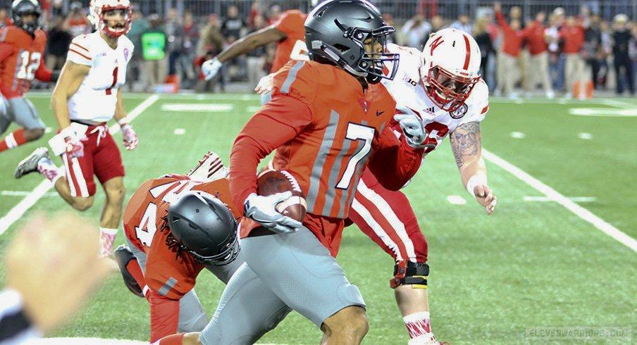 Damon Webb returns an interception for a touchdown.