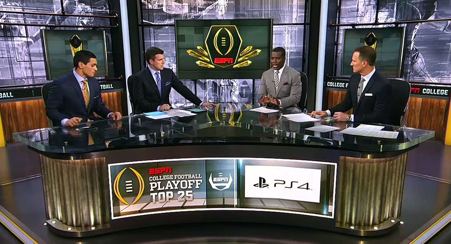 Gut reactions to the latest College Football Playoff rankings.