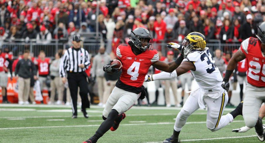 Curtis Samuel runs against Michigan.