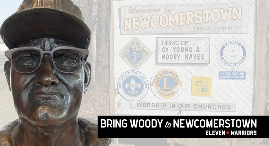Your mission: Partner with Eleven Warriors to raise money for a life-size Woody Hayes statue to be erected in his hometown.