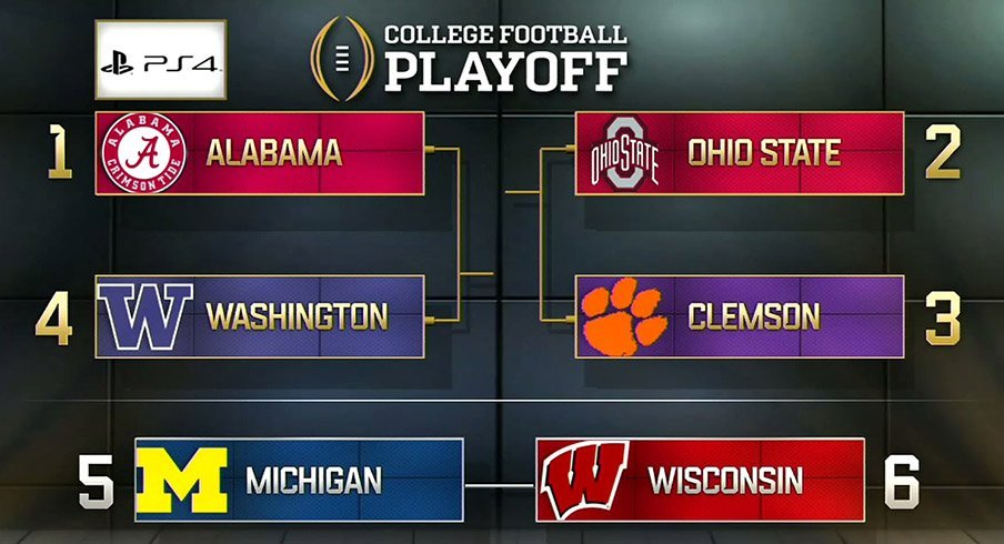 Ohio State is No. 2 in the College Football Playoff rankings.