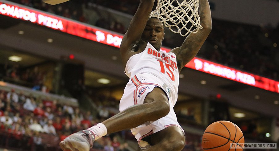 Kam Williams dunks during FDU on Saturday.