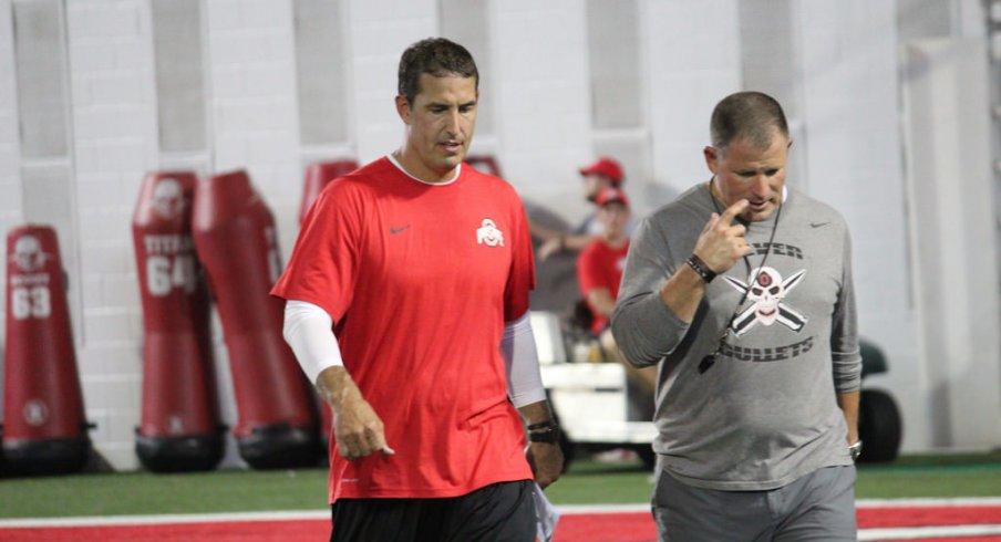 Ohio State defensive coordinators Luke Fickell and Greg Schiano.