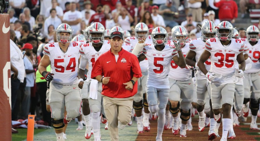 Ohio State takes the field at Oklahoma.