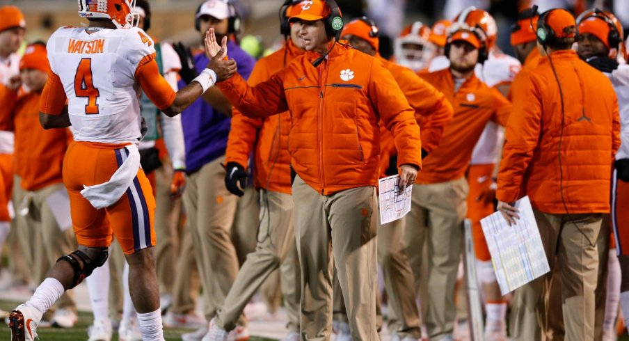 Dabo Swinney's Clemson offense is nearly identical in philosophy and scheme to the system run by Ohio State