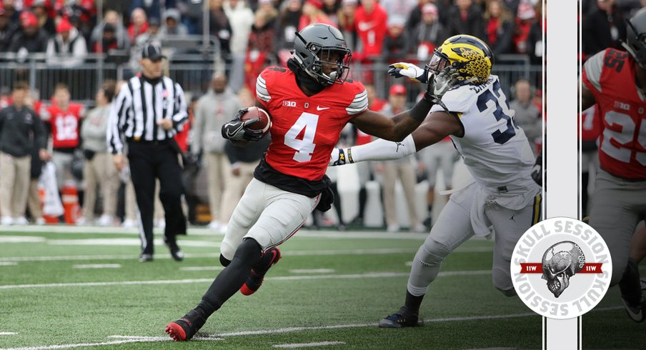 Ohio State's Curtis Samuel crowhops to the December 19th, 2016 Skull Session.