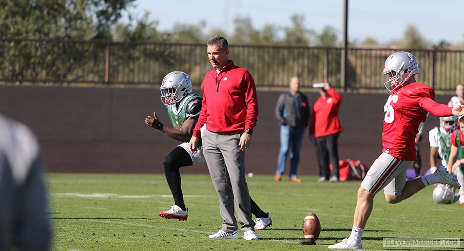 Updates from Ohio State's first practice in Arizona on Tuesday.