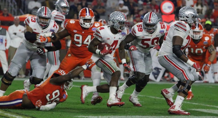 Curtis Samuel and company had little room to operate against Clemson.