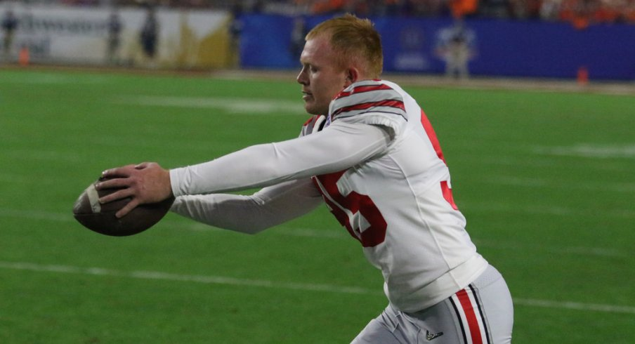 Playing in his last game as a Buckeye, Cameron Johnston was one of the few bright spots for Ohio State.