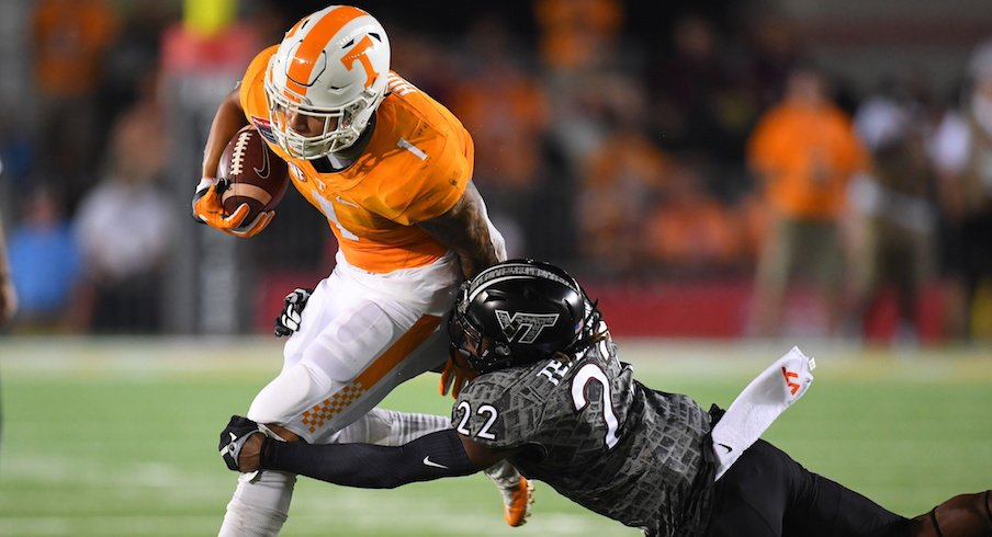 Former Tennessee running back Jalen Hurd will visit Ohio State this weekend.
