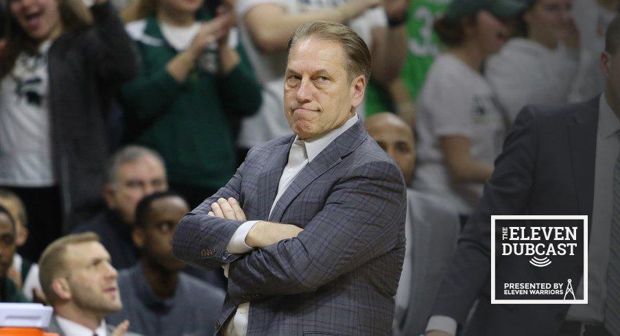 Tom Izzo watches his team take on Ohio State