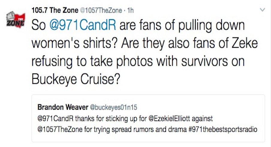 Ezekiel Elliott didn't take pictures with cancer survivors.