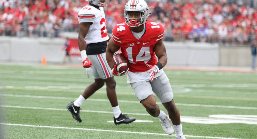 Ohio State wide receiver K.J. Hill during the spring game.