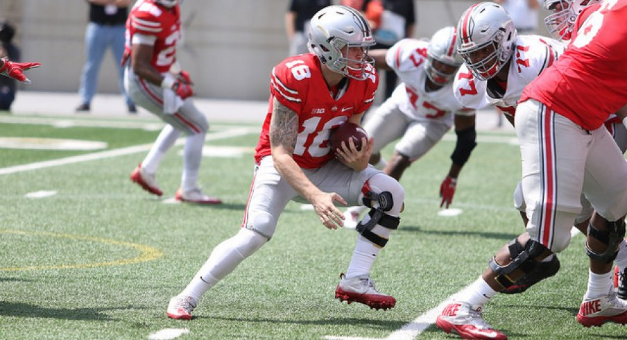 Top 10 Plays Of The 2017 Ohio State Spring Game Eleven Warriors