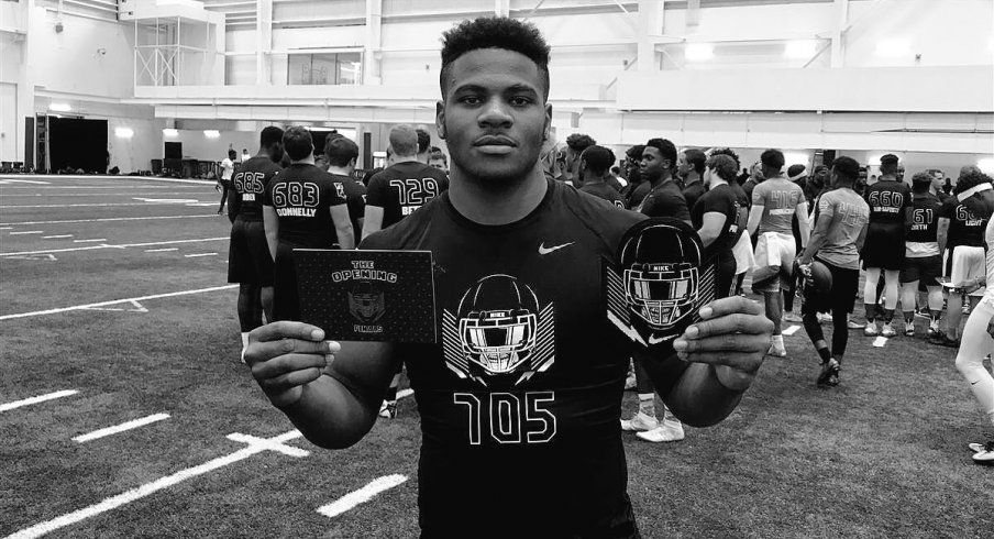 Five-star defensive end Micah Parsons is back on the market after decommitting from Penn State in April.