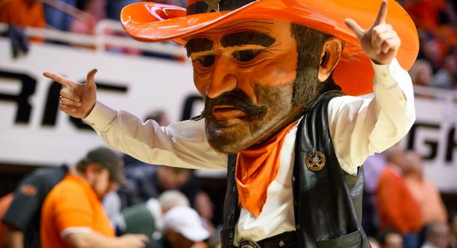 Pistol Pete gets ready to take aim at Brutus buckeye