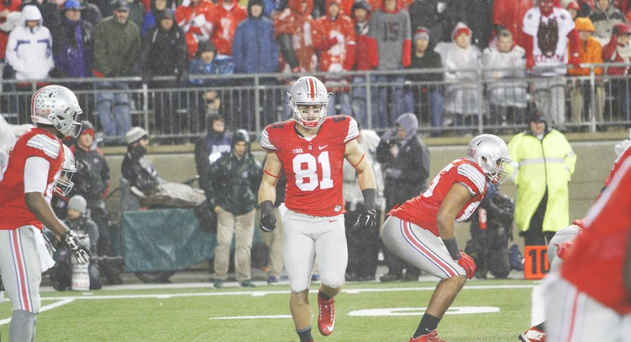 Buckeye tight ends have spent nearly as much time in the backfield as they have on the line over the past few seasons.
