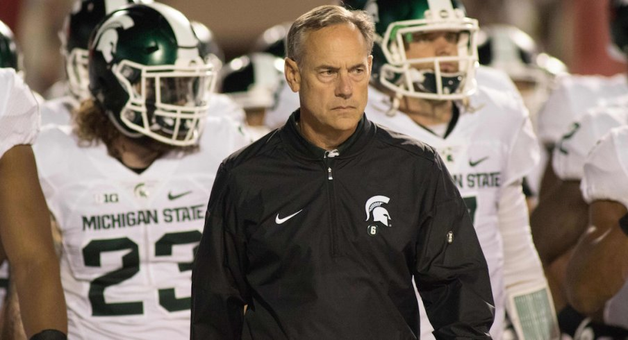 Mark Dantonio and his Spartans will return to Columbus for this year's game against Ohio State.