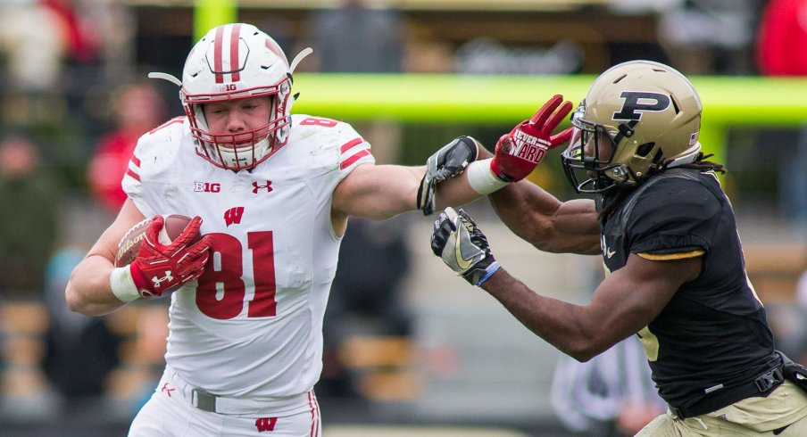 Wisconsin tight end Troy Fumagalli may be the conference's best player at the position.