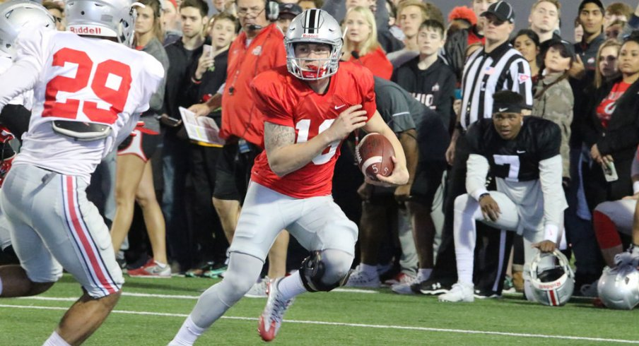 Tate Martell is one of the latest Ohio State freshmen to lose his black stripe.