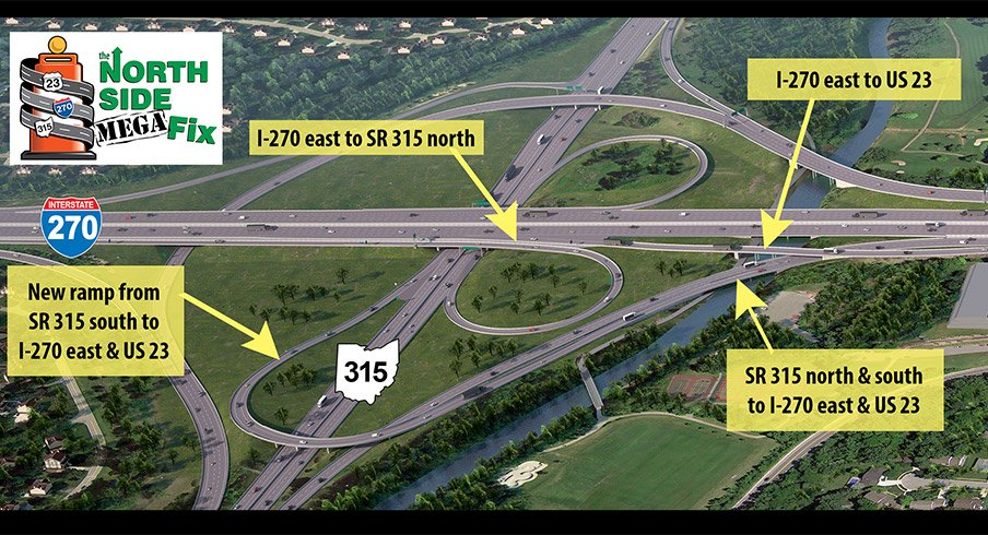 North side construction on I-270 is nearly complete.