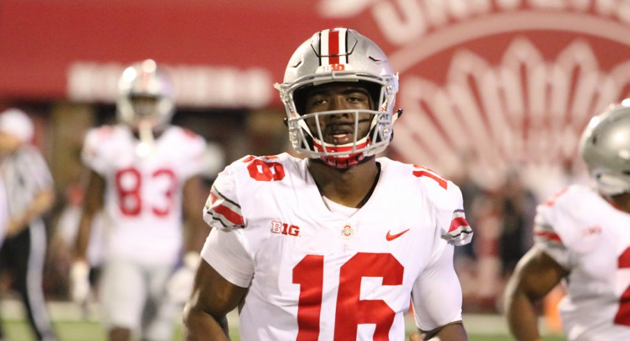 J.T. Barrett was unable to hit the deep ball in an otherwise solid first game of the season.