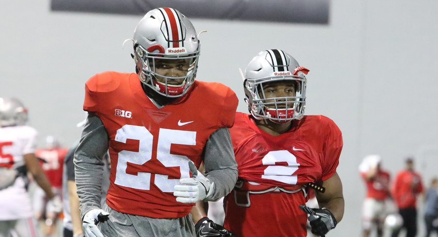 Mike Weber and J.K. Dobbins are co-starters on this week's Ohio State depth chart.