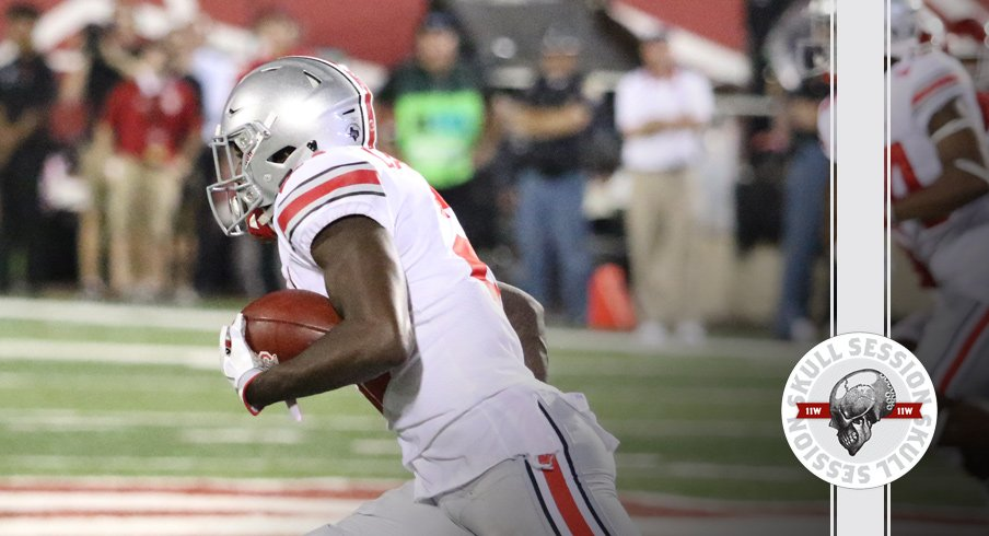 Parris Campbell rushes for the September 7 2017 Skull Session
