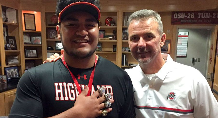 Tommy Togiai and Urban Meyer