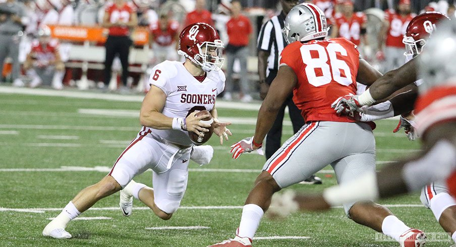 Baker Mayfield Oklahoma Dominate Second Half In 31 16 Win Over Ohio