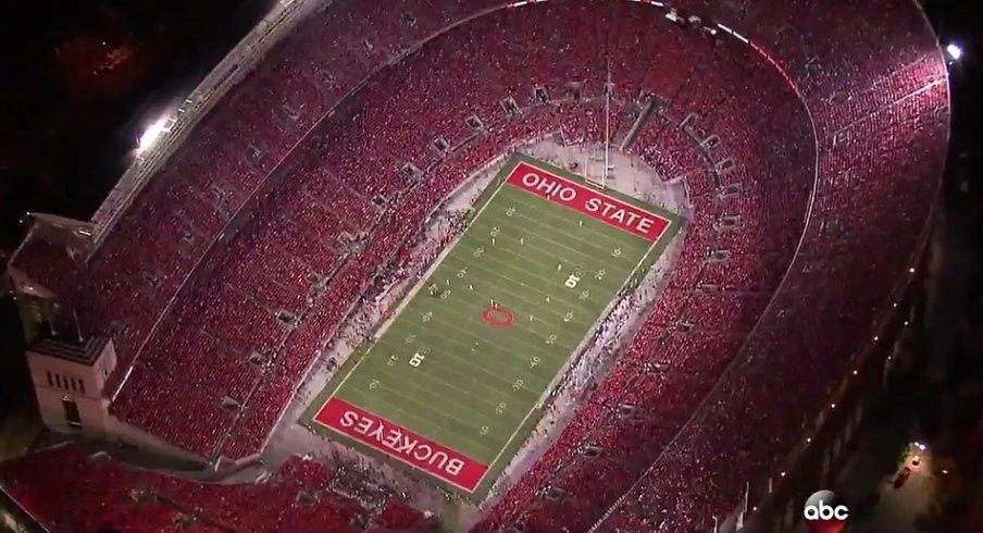 Ohio Stadium at night on ABC