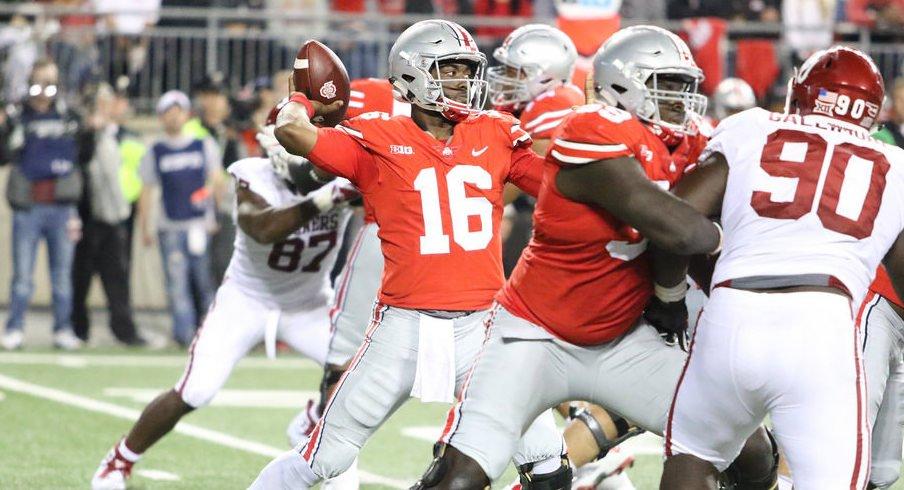 J.T. Barrett struggled on Saturday night, but he's still Ohio State's starting quarterback.