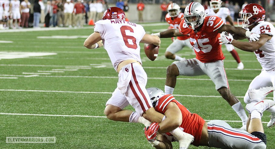 Nick Bosa got to Baker Mayfield – one of the few Buckeyes able to do so.
