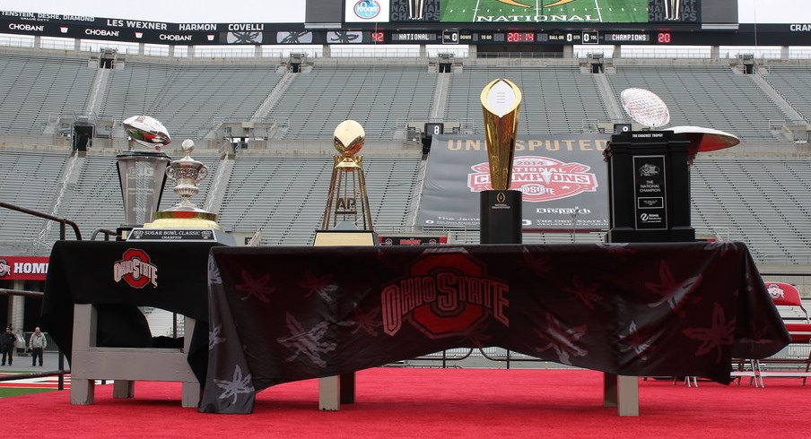 All of these trophies remain within the Buckeyes' grasp.