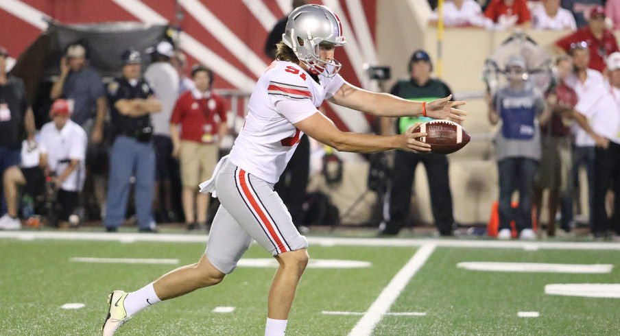 Drue Chrisman is off to a strong start through his first two games as Ohio State's punter.