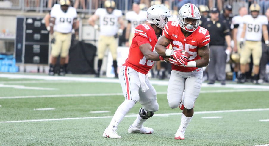 Mike Weber is no longer Ohio State's top running back, but Urban Meyer insists he'll still have a role for the Buckeyes.