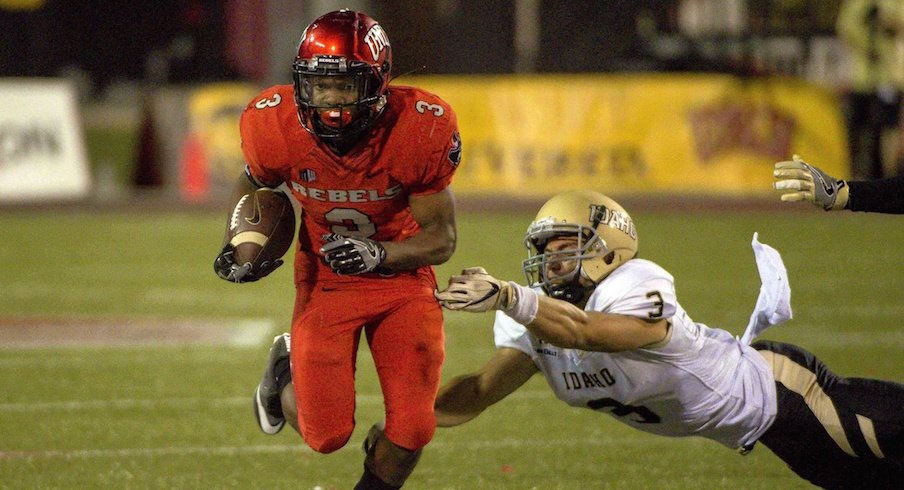 Lexington Thomas and the UNLV Rebels play Ohio State on Saturday.