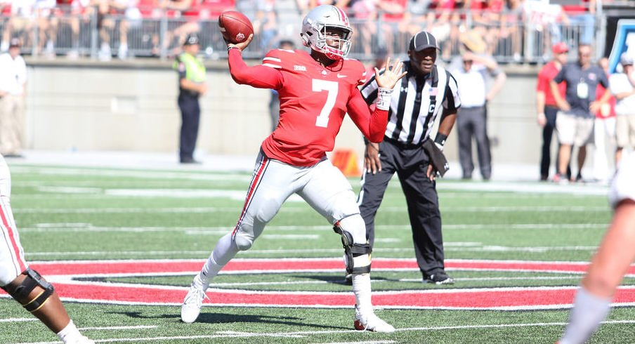 Dwayne Haskins saw the first extended playing time of his Ohio State career on Saturday.