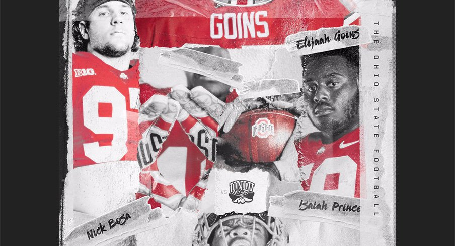 Nick Bosa, Dre'Mont Jones, Isaiah Prince and Elijaah Goins are this week's Ohio State players of the game.