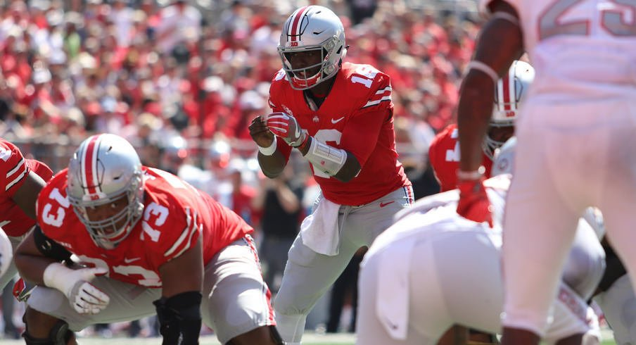 J.T. Barrett has been recognized for his play against UNLV on Saturday.