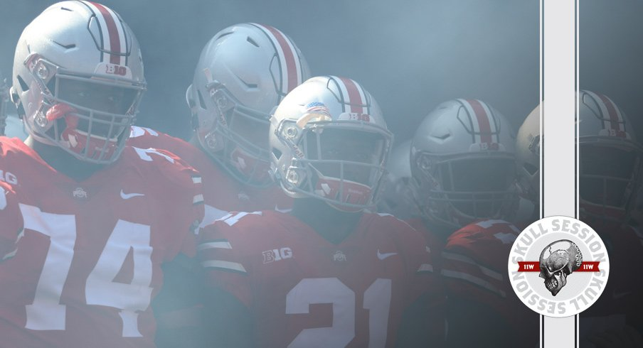 Jamarco Jones and Parris Campbell ready to dump somebody for the September 27 2017 Skull Session.