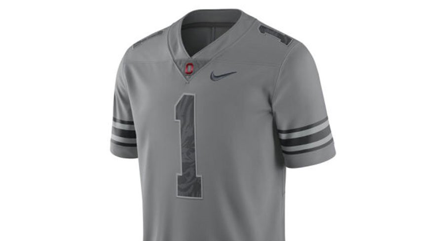 Ohio State's gray alternate jersey